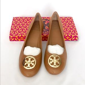 New Tory Burch Selma ballet flats 9.5 Tumble Tan